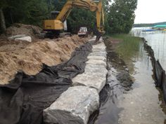 Team Wilhelm creating another seawall!