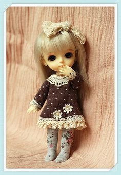 Dress  Dark Coffee  for Pukifee or Lati by AngelGardenByChilly