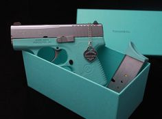 Who wants a pink gun when you can have Tiffany blue??