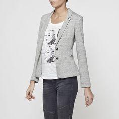 Veste grise coudiere femme