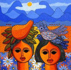 Art & Culture in the Dominican Republic Louis Jover, Hispanic Art, Caribbean Art, Art Corner, Black Artwork, Cultural, Aboriginal Art, Heart Art, Dominican Republic