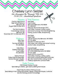 Resume For Hairstylist Working Resume  Careerprofessional  Pinterest