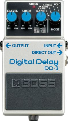 This compact pedal provides a digital delay effect with outstanding quality equivalent to that of a dedicated rackmount delay unit, all with simple stompbox-style control. - Compact delay pedal with s