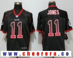 Men's Atlanta Falcons #11 Julio Jones Black Drift Stitched NFL Nike Fashion Jersey