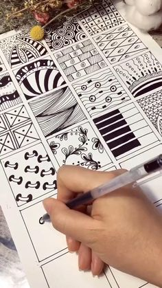 Ink Pen Art, Tangle Patterns, Tangled, Zentangle, Mandala, Doodles, Sketch, Drawings, Projects