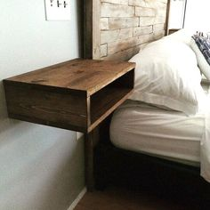 headboard floating side tables bed table bedside ideas king with