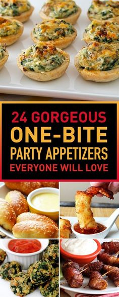 24 Gorgeous One-Bite Party Appetizers Everyone Will Love (Finger Food Appetizers Easy) No Cook Appetizers, Finger Food Appetizers, Appetizer Recipes, Delicious Appetizers, Appetizer Ideas, Snack Recipes, Potluck Finger Foods, Heavy Appetizers, Best Party Appetizers