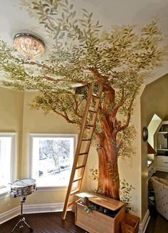 """1) Indoor Tree House: <a href=""""http://joemonster.org/mg/122353,lastup,Zamiast_tapety"""">Inspiration Here</a>."""