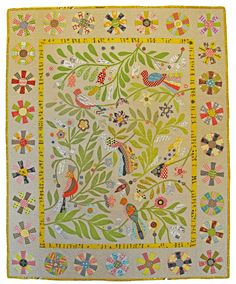 Bird's Eye View Applique Quilt Pattern by Irene Blanck Bird Applique, Applique Quilt Patterns, Applique Ideas, Embroidery Designs, Quilting Designs, Quilting Tips, Quilting Projects, Art Tutorial, Bird Quilt