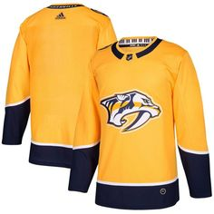 f5a46f43b92 Adidas Predators Blank Yellow Home Authentic Stitched NHL Jersey Gold Adidas