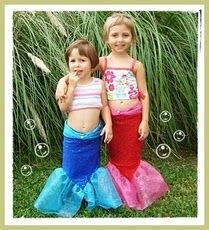 Mermaid costume with tutorial