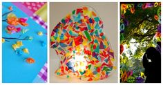 10 Tissue Paper Crafts for Kids - beautiful!!