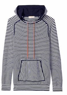 Stripped pullover hooded sweater