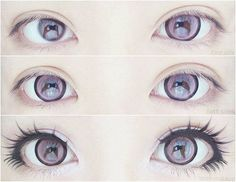 cute fashion eyes japanese kawaii beautiful style lovely asian ulzzang sweet kfashion Asian fashion Make up korean lolita asian eyes Gyaru big eyes jfashion japan style kstyle jstyle mooemooekyuun Tutorial Cosplay, Cosplay Diy, Cosplay Costumes, Halloween Costumes, Anime Make-up, Anime Eyes, Anime Eye Makeup, Anime Cosplay Makeup, Gyaru Makeup