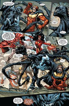 The Superior Venom battles the Avengers in Superior Spider-Man #25