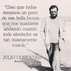 ¿Conoces a Julio Cortázar?¿Quién fue?¿Puedes encontrar información sobre él? ¿Qué crees que significa esta frase?¿De qué habla?