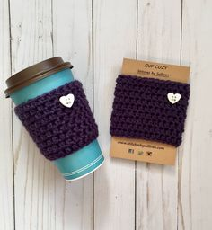 A personal favorite from my Etsy shop https://www.etsy.com/listing/586941297/plum-crazy-about-coffee-cozy-crochet