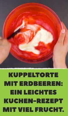 Kuppeltorte mit Erdbeeren: Ein leichtes Kuchen-Rezept mit viel Frucht.