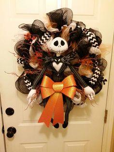 Jack Skellington/ Nightmare before Christmas Halloween wreath by Callie Allan
