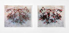 Textile Artist Karola Pezarro Elderberries An exploration of inspiration by Karola Pezarro
