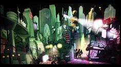 Extrapolis by Théoriz Crew  Breaking the boundaries between drawing and video projection, this digital art work litterally draws the spectator in an imaginary and alive city. Putting human life and animation at its core, Extrapolis explores and questions the relationship between the city and its inhabitants. Extrapolis draws its inspirations from both the comics world and the digital art sphere, like AntiVj's Cityscape 2095.
