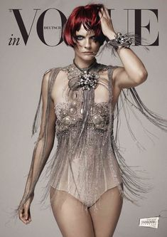 Karolin Wolter Shines in Swarovski Elements for Vogue Germanys 2013 Horoscope