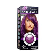 Splat Instant Color Hair Chalk – Purple Pixies ($6.99) ❤ liked on Polyvore featuring beauty products, haircare, hair color and purple