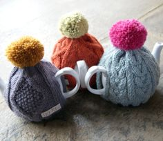 Hand Knitted Tea Cosy by LucyDenise on Etsy