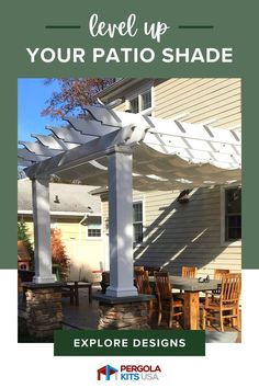 Pergola Kits USA specializes in creating easy-to-assemble pergola and pavilion kits, shipped direct to you. Our pergolas are hand crafted from the best available materials sourced exclusively from the USA. We offer a variety of color and stain options, and create custom designs to give your yard the exact style you want! #outdoorliving #backyardretreat Cedar Pergola, Diy Pergola, Pergola Kits, Pergola Designs, Red Cedar Lumber, Retractable Pergola Canopy, Patio Shade, Composite Decking, Backyard Retreat