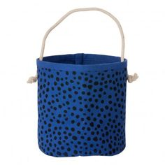 Ferm Living Billy Mini Basket - `One size Some variations may occur with the print, due to hand-printing * Details : Organic Cotton, Handprinted * Composition : 100% Organic cotton grown without pesticides * Color : Blue * Diameter : 14 cm, H http://www.MightGet.com/january-2017-13/ferm-living-billy-mini-basket--one-size.asp