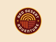 Logo concept for Red Desert Adventure, a company that offers guided rock climbing, canyoneering, hiking and more in the Utah area. You might recognize the graphic in the middle which was a discarde...