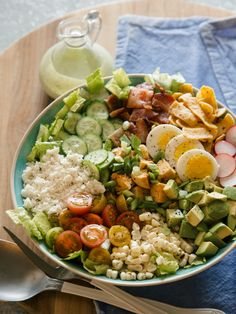 Southwest Style Cobb Salad with Cilantro-Ranch Dressing