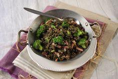 Lentilles vertes au brocoli {en salade} -Tangerine Zest