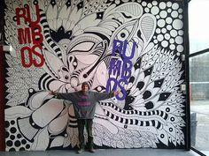 ©MarianoPadilla - Mural - Wall Painting - Uni Posca on 23m² wall - Centro Cultural Konex