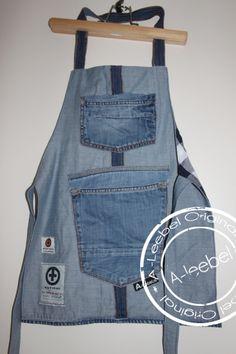 Kinderschort van old Kuyighi jeans. Made by A-leebel.nl