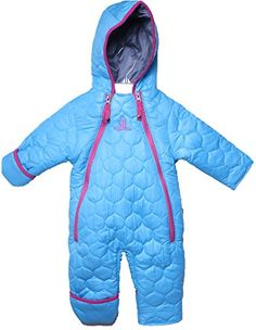 1f0aee0ff Amazon.com: Rugged Bear - Newborn Baby Girls Quilted Winter Snowsuit Pram/  Turquoise3/6: Clothing