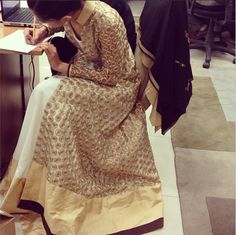 Gorgeous new outfits by Nikhil Thampi coming on the website soon #model #multitasking #puttowork #nikhilthampi #comingsoon #newstyles #gorgeous #ethnic #gold #ivory #love #cantwait