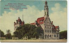 German Building in Jackson Park erected for the 1893 World's Fair. Postmarked Aug. 19, 1911.