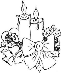 Dibujos y Plantillas para imprimir: Velas navidad