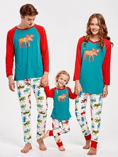 ELK Pattern Family Christmas Pajamas. Emmababy Family Matching Clothes  Father ... fa8cbc849