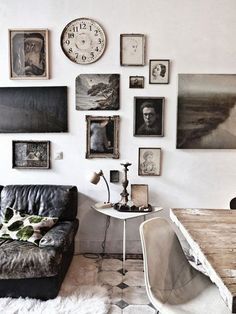 I love the tones in this room. I'd like to curl up with a book and a spot of tea and stay awhile. Gallery Wall Inspiration: Eclectic Layouts
