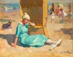 catalogusnummer 342 louis soonius 1883 1956 een zomerse dag op het ... Sand And Water, Beach Art, Yahoo Images, Image Search, Painting, Painting Art, Paintings, Painted Canvas, Drawings