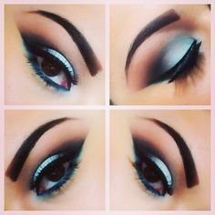 All MAC Products used. Entire eyes were primed with painterly paint pot. Highlight: Blanc Type, Lid: Aqua (Pro Color), Crease: Kid & Espresso, Outer Crease: Plumage, Liner: Blacktrack Fluidline, Bottom liner: Undercurrant.  @muastephnicole