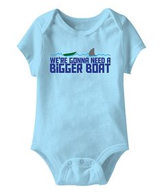 Take a look at this Jaws 'We're Gonna Need a Bigger Boat' Bodysuit today!