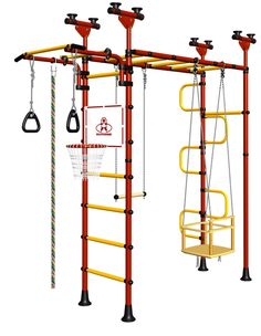 Indoor Sport Gym for Kids, model Pegasus-4.04.php - Jungle Gym with metal rungs covered with plastic