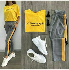 Spring Athleisure outfits 2019 – Just Trendy Girls Legging Outfits, Athleisure Outfits, Dress Outfits, Casual Dresses, Fashion Dresses, Kimono Outfit, Woman Outfits, Mode Outfits, Trendy Outfits