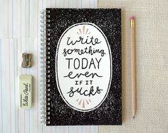 Spiral Notebook, Journal - Write Something