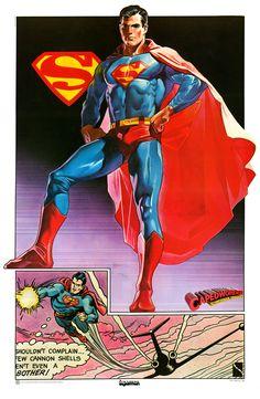 1977 Drew Struzan painted picture SUPERMAN!  Big Glee! The Albert Bryan Bigley Archives!