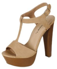 Breckelles Womens Betsey-41 Buckle Ankle Strap Stacked Wooden Platform Heel Sandals *** You can find out more details at the link of the image.