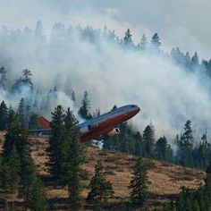 McDonnell Douglas 10 Tanker Air Carrier, Air Tanker - Silverado Fire Burning in the Mountains of Cleveland National Forest South of Corona, California - September 2014 Bomber Plane, Wildland Firefighter, Train Truck, Fire Apparatus, Emergency Vehicles, Fire Dept, Fire Engine, Fire Trucks, Fighter Jets